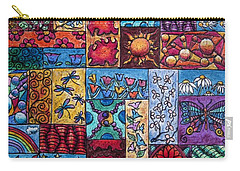 Carry-all Pouch featuring the drawing Patchwork 4 by Megan Walsh