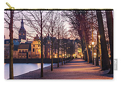 Carry-all Pouch featuring the photograph Path By A Pond - The Hague by Barry O Carroll
