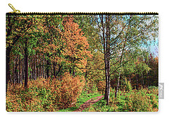 path in a beautiful country Park on a Sunny autumn day Carry-all Pouch