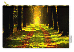 Carry-all Pouch featuring the painting Path In The Forest 715 - Painting by Ericamaxine Price