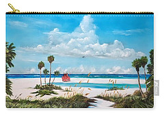 Path On Siesta Key To The Red Lifeguard Shack Carry-all Pouch