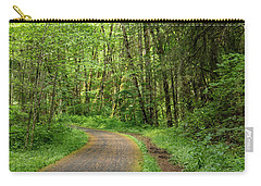 Carry-all Pouch featuring the photograph Path Through The Woods by Jean Noren
