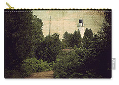 Carry-all Pouch featuring the photograph Path To Cana Island Lighthouse by Joel Witmeyer