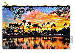 Carry-all Pouch featuring the digital art Path To The Sea by DJ Florek