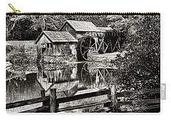 Pathway To Marby Mill In Black And White Carry-all Pouch by Paul Ward