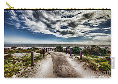 Carry-all Pouch featuring the photograph Pathway To The Beach by Douglas Barnard