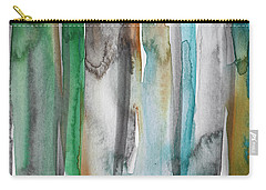 Patina- Abstract Art By Linda Woods Carry-all Pouch