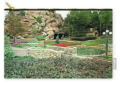 Carry-all Pouch featuring the photograph Patina Green Flower Garden Walkway by Aimee L Maher Photography and Art Visit ALMGallerydotcom