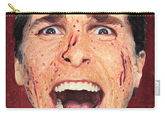 Carry-all Pouch featuring the painting Patrick Bateman by Taylan Apukovska