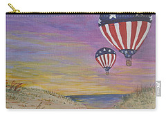 Patriotic Balloons Carry-all Pouch by Debbie Baker