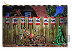 Carry-all Pouch featuring the photograph Patriotic Bicycle by Craig J Satterlee