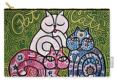 Patriotic Cats Carry-all Pouch by Jim Harris