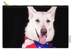 Patriotic Dog Carry-all Pouch by Stephanie Hayes
