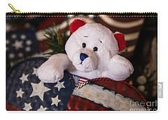Patriotic Teddy Bear Carry-all Pouch by Lynn Sprowl