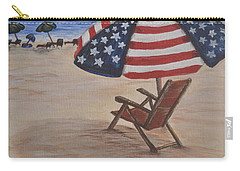 Patriotic Umbrella Carry-all Pouch by Debbie Baker