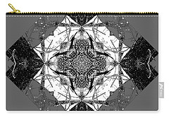 Pattern In Black White Carry-all Pouch