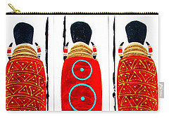 Patterned Masai Triptych Carry-all Pouch