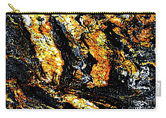 Carry-all Pouch featuring the photograph Patterns In Stone - 185 by Paul W Faust - Impressions of Light