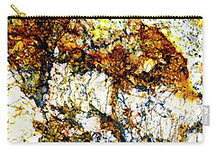 Carry-all Pouch featuring the photograph Patterns In Stone - 210 by Paul W Faust - Impressions of Light