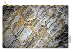Carry-all Pouch featuring the photograph Patterns In The Rock by Kerri Farley