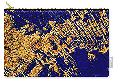 Tree Stump Pattern In Gold And Blue Carry-all Pouch by Menega Sabidussi