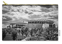 Paul Brown Stadium Black And White Carry-all Pouch