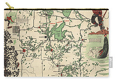 Paul Bunyan's Playground - Northern Minnesota - Vintage Illustrated Map - Cartography Carry-all Pouch