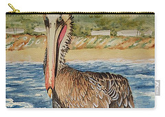 Paula's Pelican Carry-all Pouch by Katherine Young-Beck