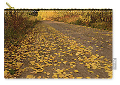Carry-all Pouch featuring the photograph Paved In Gold by Steve Stuller