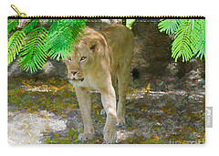 Carry-all Pouch featuring the painting Paw Power by Judy Kay