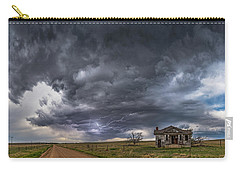 Carry-all Pouch featuring the photograph Pawnee School Storm by Darren White