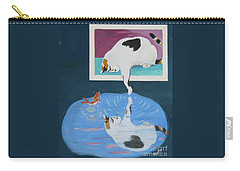 Carry-all Pouch featuring the painting Paws And Effect by Phyllis Kaltenbach