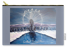 Peace And Goodwill Toward Men With Quote Carry-all Pouch