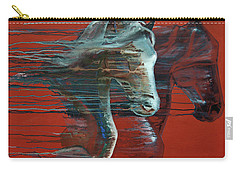 Carry-all Pouch featuring the painting Peace And Justice by Jani Freimann