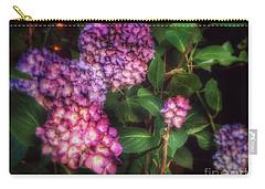 Carry-all Pouch featuring the photograph Peace Garden - Purple Hydrangeas by Miriam Danar