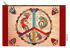 Peace Love And Harmony Carry-all Pouch