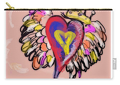 Peace. Love. Prayers. Carry-all Pouch by Jason Nicholas