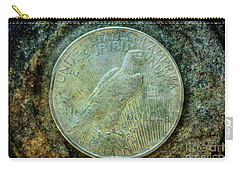 Carry-all Pouch featuring the digital art Peace Silver Dollar Reverse by Randy Steele