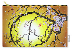 Peace Tree In Golden Glow  Carry-all Pouch by Laura Iverson