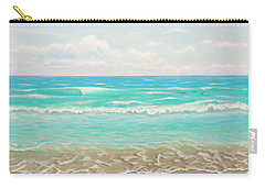 Carry-all Pouch featuring the painting Peaceful Beach by Jimmie Bartlett