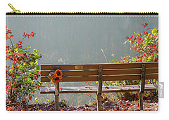 Carry-all Pouch featuring the photograph Peaceful Bench by George Randy Bass