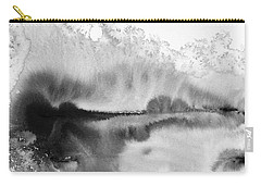 Peaceful Evening - Abstract Ink Rural Landscape Art Carry-all Pouch