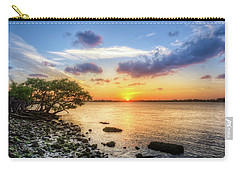 Carry-all Pouch featuring the photograph Peaceful Evening On The Waterway by Debra and Dave Vanderlaan
