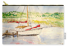 Carry-all Pouch featuring the painting Peaceful Harbor by Marilyn Zalatan