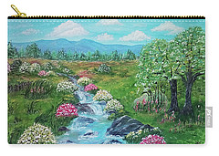 Carry-all Pouch featuring the painting Peaceful Meadow by Sonya Nancy Capling-Bacle
