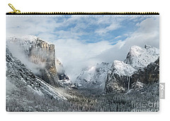 Carry-all Pouch featuring the photograph Peaceful Moments - Yosemite Valley by Sandra Bronstein