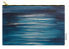 Peaceful Moon At Sea Carry-all Pouch
