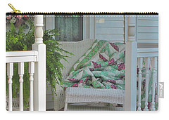 Carry-all Pouch featuring the photograph Peaceful Porch In A Small Town by Nancy Lee Moran
