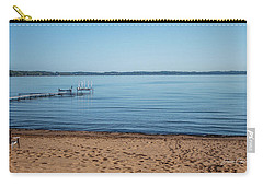 Carry-all Pouch featuring the photograph Grand Traverse Bay Beach-michigan  by Joann Copeland-Paul