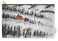 Carry-all Pouch featuring the painting Peaceful Winter Daybreak by Jeffrey Koss